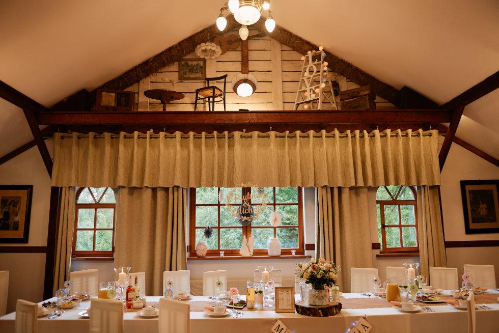 Kręgski Młyn wesele dekoracja sali