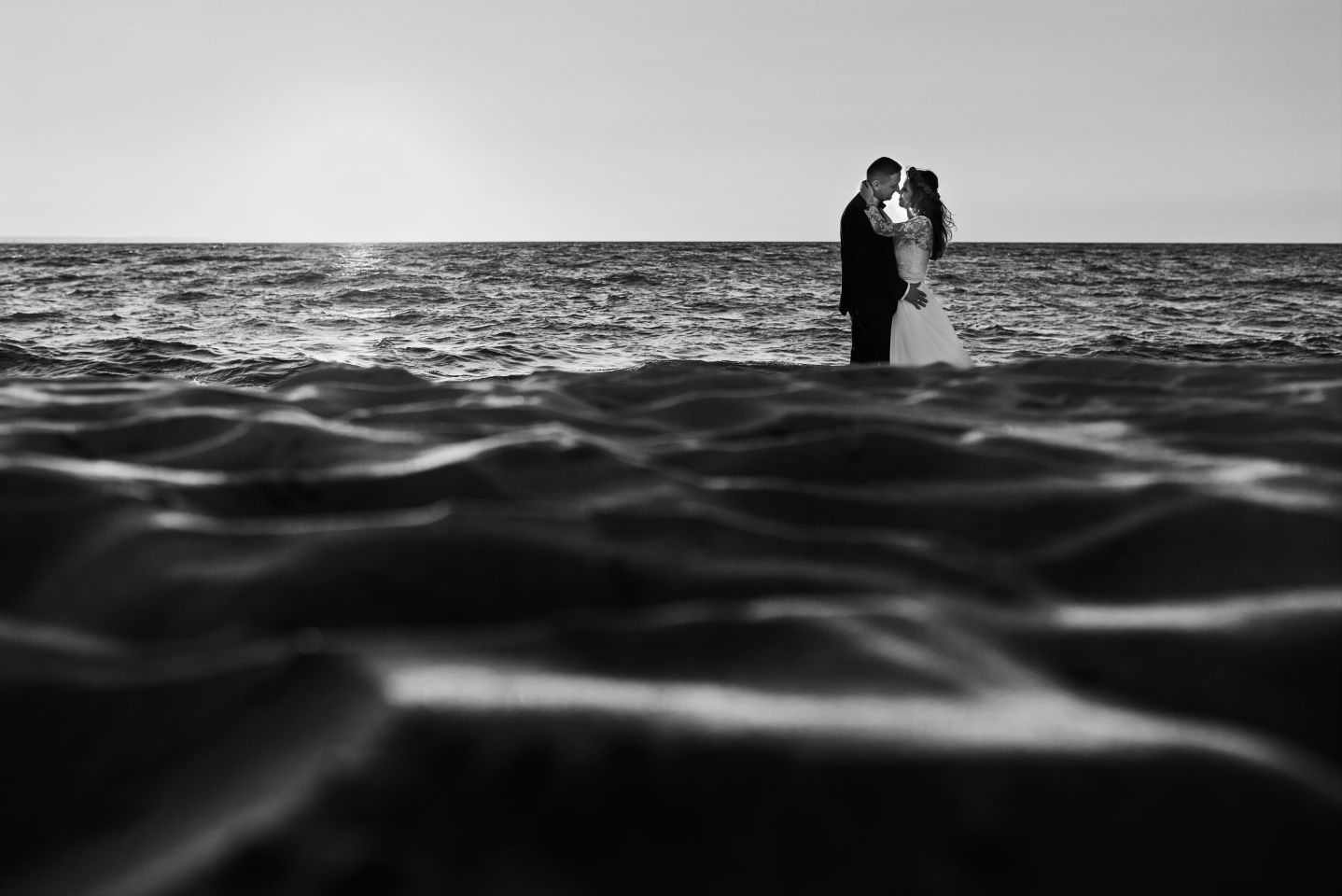 plener na plaży fotografia ślubna trójmiasto