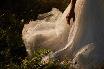 suknia slubna plener